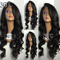 Heavy Density Lace Front Wig Unprocessed Virgin Glueless Full Lace Wig Brazilian 150% Body Wave Human Hair Wigs For Black Women