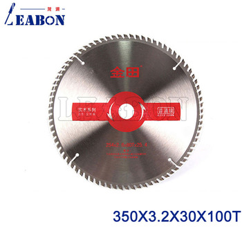 LEABON 350mm Diameter Wood Circular Saw Blade for Cutting Wood Plywood Board and Other Wood Cutting Saw Blade 350x3.2x30x100T