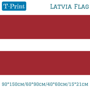 90*150cm/60*90cm/40*60cm/15*21cm Latvia Flag Polyester 3x5ft World Cup National Day Olympic Games image