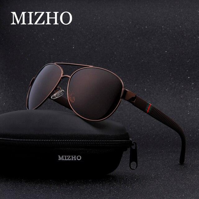 b892ae389 MIZHO Brand High Quality Original Polaroid Sunglasses Men 26g Light  Polyamides Leg Alloy Pilots Classic Glasses