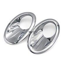 Автомобиль Стайлинг для Nissan Qashqai и Qashqai + 2 2010 2011 2012 2013 ABS Chrome передние противотуманные свет Крышка головки планки противотуманных фар