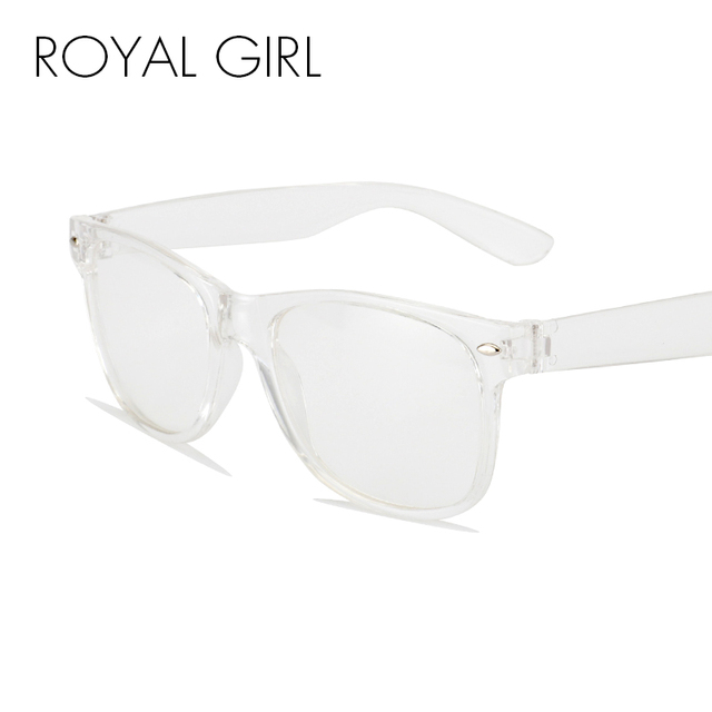 e819d466bcdc ROYAL GIRL New Fashion Eyeglasses Transparent Frame Glasses Cool Driving  Spectacles for Women SS023
