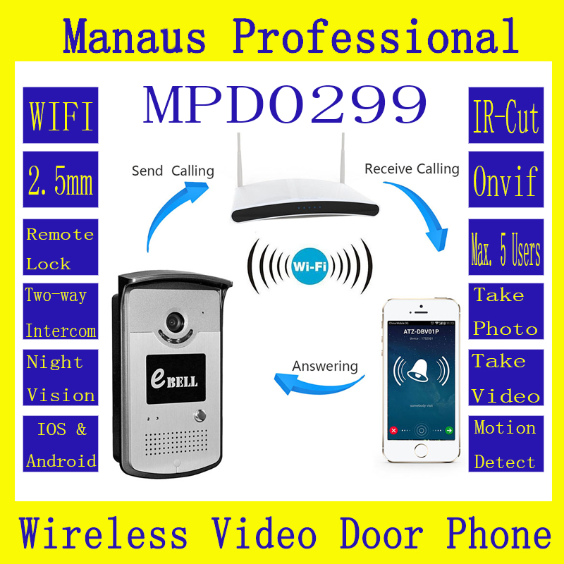 цены Hot Selling Motion Detection WIFI IP65 Video Door Phone Outdoor Monitor Intercom Doorbell with 720P Smart IP Doorbell ATZ-DBV03P