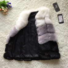 Faux Fur Vest Winter Women Faux Fox Fur Vest Furry Slim Colored
