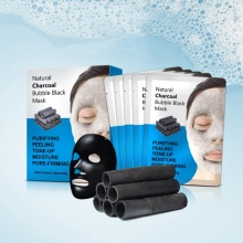 Charcoal Bubble Black Face Masks 5 pcs Set