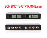 Freeshipping 8ch Passive Video Balun The Video BNC To UTP RJ45 CAT5 Camera DVR Balun The