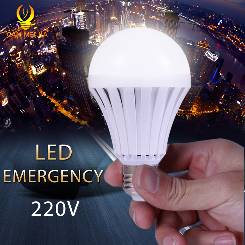 E27 Led Emergency Light Bulb 220V 5W 7W 9W 12W Energy Saving Rechargeable LED Lamps Battery Bombilla Led for Home Lighting White e27 4w 65 led 420 lumen 6500k white energy saving led light bulb 220v