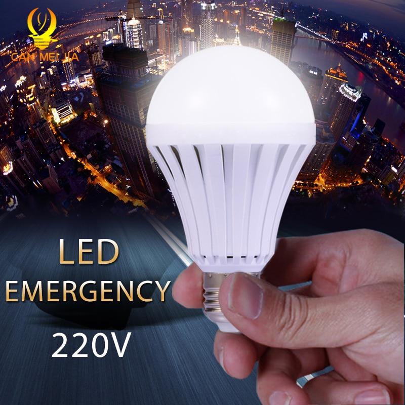 E27 Led Emergency Light Bulb 220V 5W 7W 9W 12W Energy Saving Rechargeable LED Lamps Battery Bombilla Led for Home Lighting White