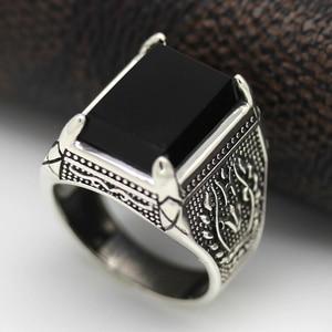 Image 4 - Eulonvan Luxe Vintage 925 Sterling Zilver Zwart Ringen Sieraden & Accessoires Mannen Dropshipping Zirconia S 3810 Size 6   13