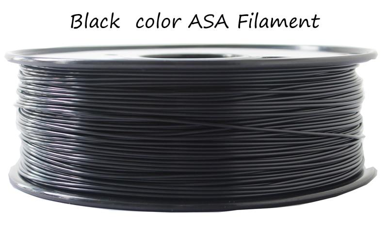 Made in China Retardant ASA Filament filament 1.75mm impressoras laser 3d filament 1 kg /plastic spool 1.75mm ASA plastic fila