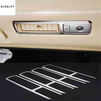 4pcs/lot Car sticker stainless steel car ceiling Sunroofs outlet decoration cover for 2015 2019 Toyota Alphard