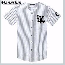 Mann si Tun Neue Sommer Stil Mens t-shirts Mode 2017 street Hip Hop baseball jersey gestreiftes hemd Männer Kleidung tyga M-XXL