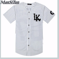Newest Summer Style Mens T Shirts Fashion 2017 Streetwear Hip Hop Baseball Jersey Striped Shirt Men