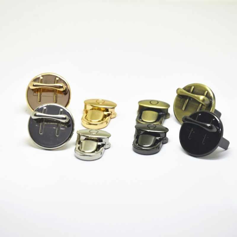 20 piezas Bloqueo de prensa para el bolso de mano DIY bolso de cierre de Hardware piezas accesorios oro plata bronce Gunblack