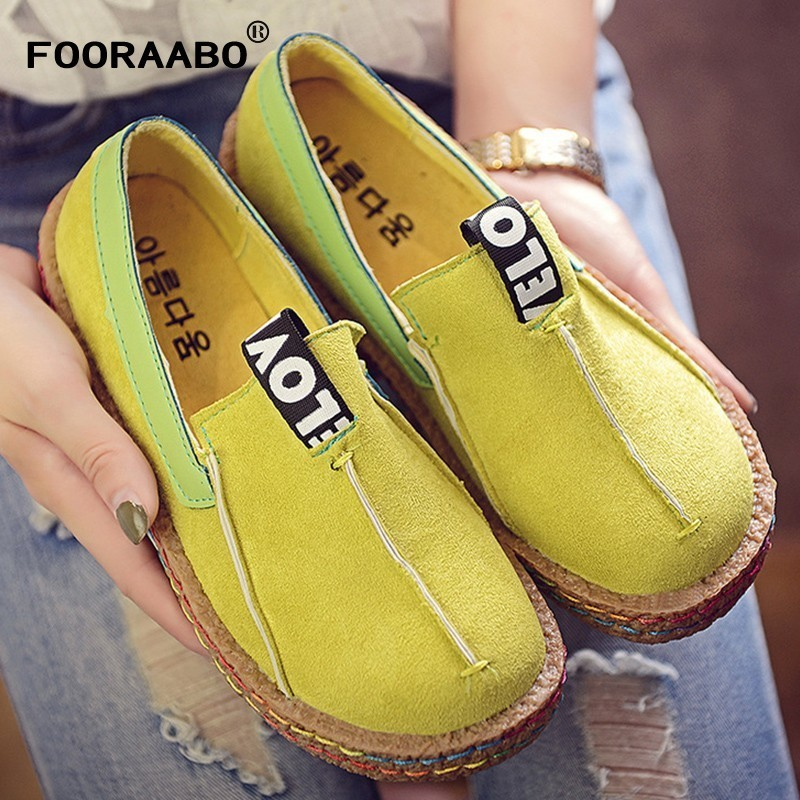 Big Size 35-42 Women Flats Shoes Loafers Female Breathable Ladies Flock Slip On Flats Loafers Casual Shoes Womens Footwear wdzkn flower print women casual shoes slip on flats hollow out soft split leather women loafers big size ladies shoes 35 42