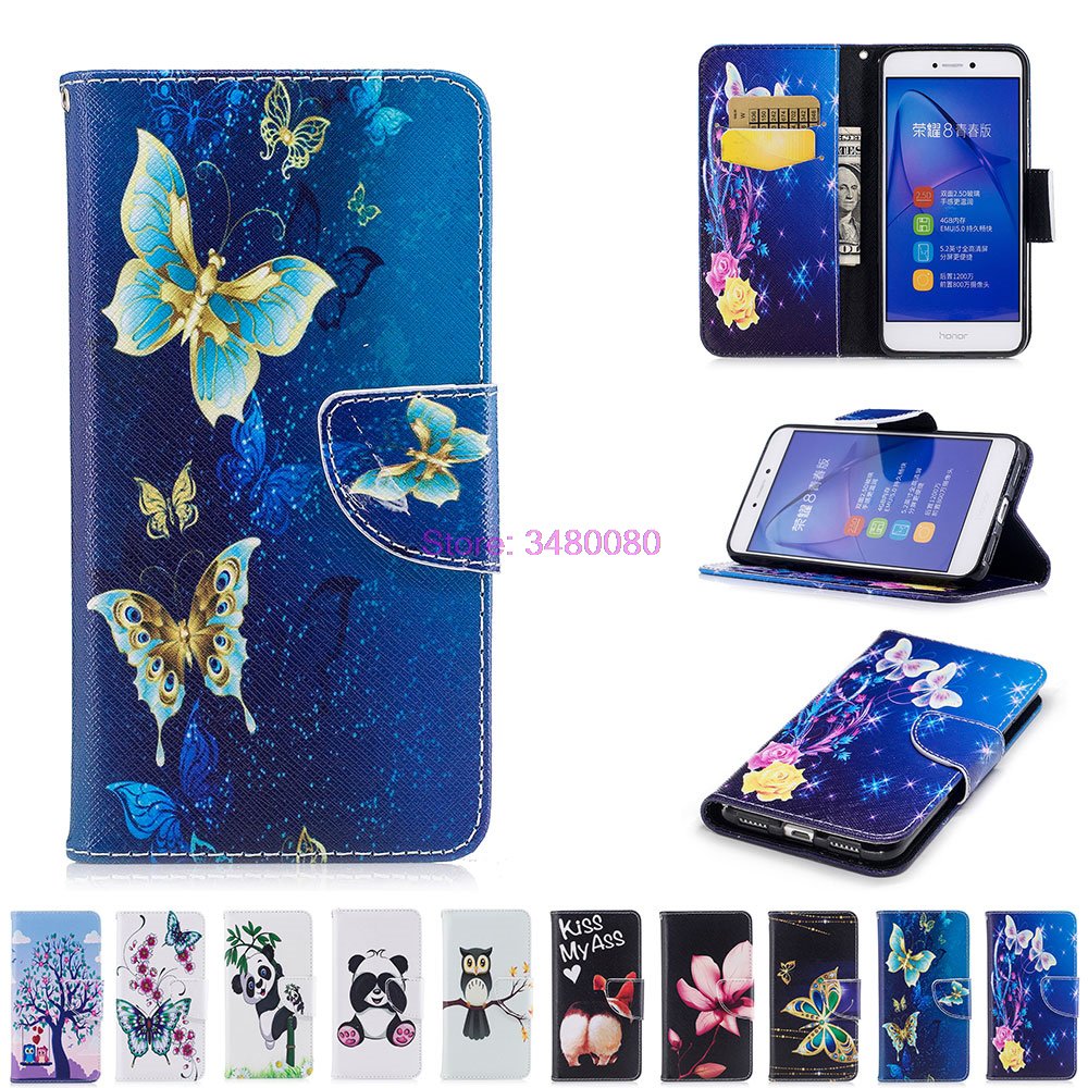 Flip Case Flip Case for <font><b>Huawei</b></font> P8 Lite 2017 <font><b>PRA</b></font>-<font><b>LX1</b></font> <font><b>PRA</b></font>-LA1 Painted Phone Leather Cover for <font><b>Huawei</b></font> P8Lite 2017 <font><b>PRA</b></font> <font><b>LX1</b></font> LA1 Bags image