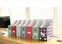 free shipping Cute desktop storage box paper box Korea creative office desk file shelf bookcase