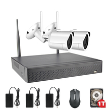 ACESEE 2CH 1080P Video Surveillance IR Night-Vision Home Security IP Camera WIFI CCTV NVR Security  Kit With 1TB HDD Outdoor