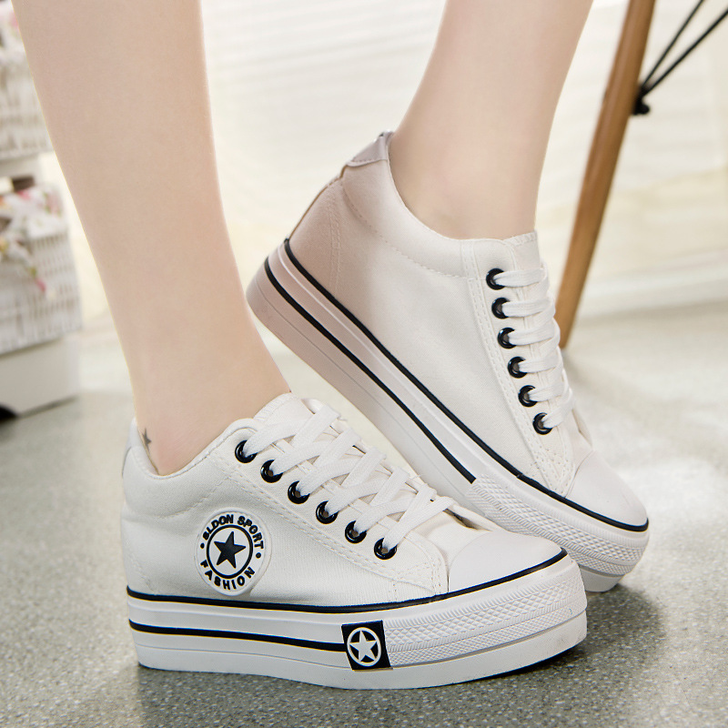 font b Women b font Casual Shoes Wedges Canvas Shoes font b Woman b font