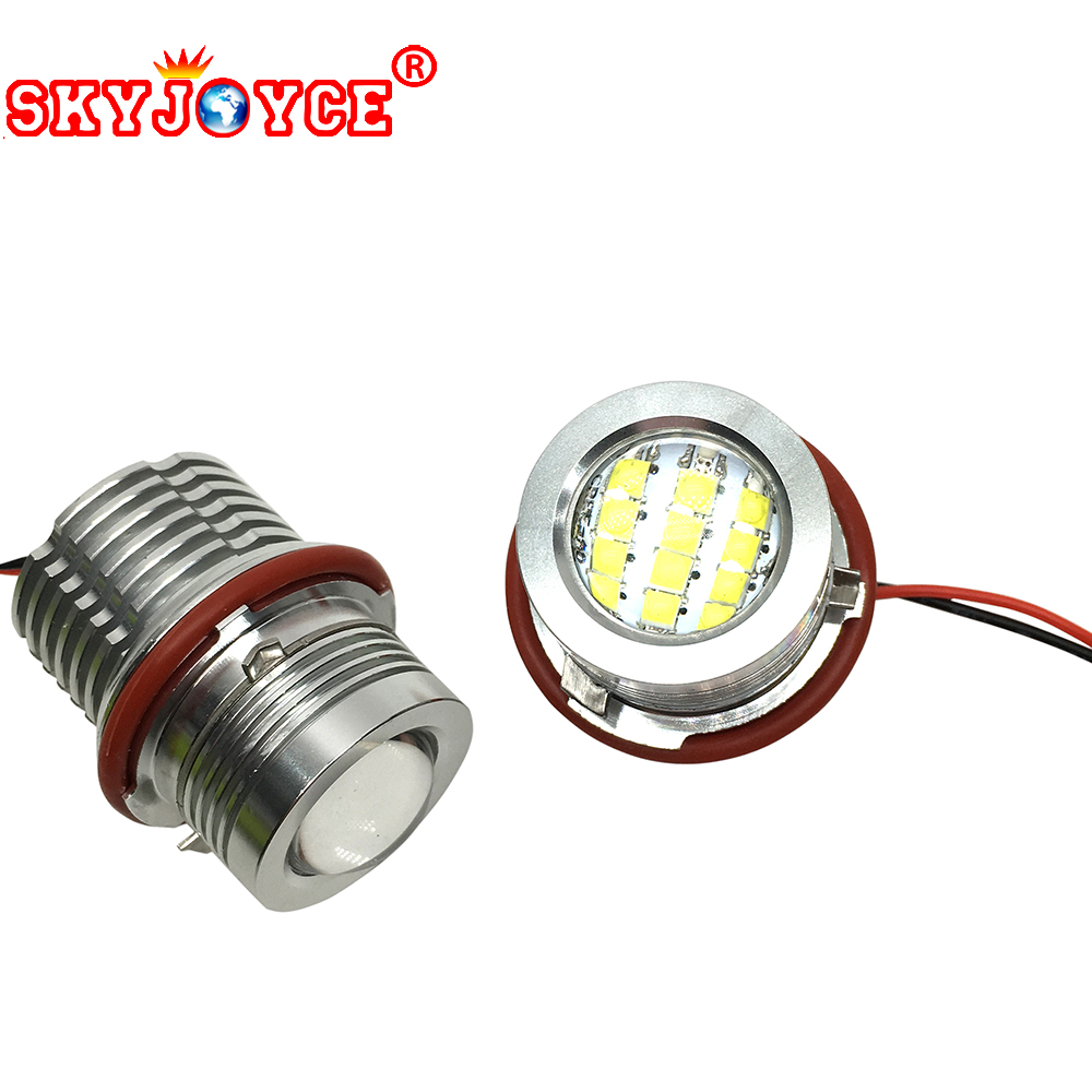 SKYJOYCE 60W Led marker angel eyes for E39 E87 E61 E63 E64 E83 E53 Car Styling