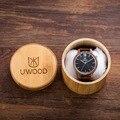 Naturalmente Simplicidade Retro Minimalismo Estilo Luxo Relógios Homens Com Alças de Madeira De Bambu De Madeira De Nogueira Famosa Marca Mens Relógios