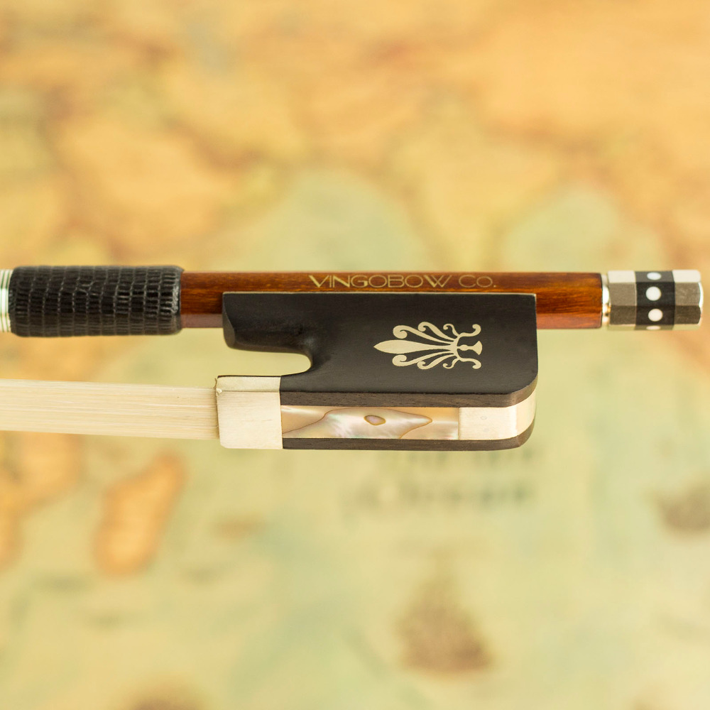 860C 4/4 Size Pernambuco CELLO BOW Ebony Frog with Flower Pattern Nickel Silver Fitted Natural Horsehair Cello Parts Accessories free case 4 4 size 954c tourte master pernambuco cello bow high quality ebony and horsehair pure silver fitted cello accessory