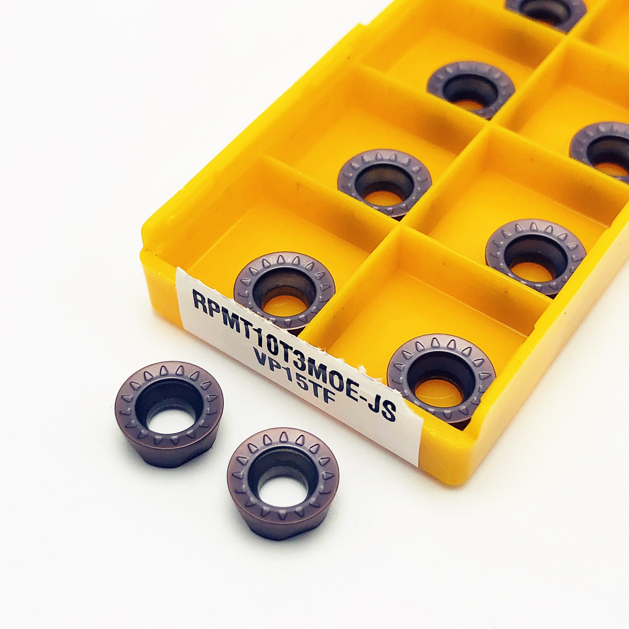 20PCS Carbide Insert RPMT10T3MO E JS VP15TF Milling Turning Tool RPMT 10T3MOE JS Lathe Tool Milling Cutter CNC Tool Lathe Tool