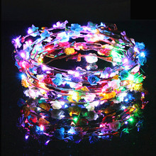 Light Wreath Colorful Flash Ten Lights Led Headdress Headband Childrens Toys Party Birthday Gift for Girl Wholesale