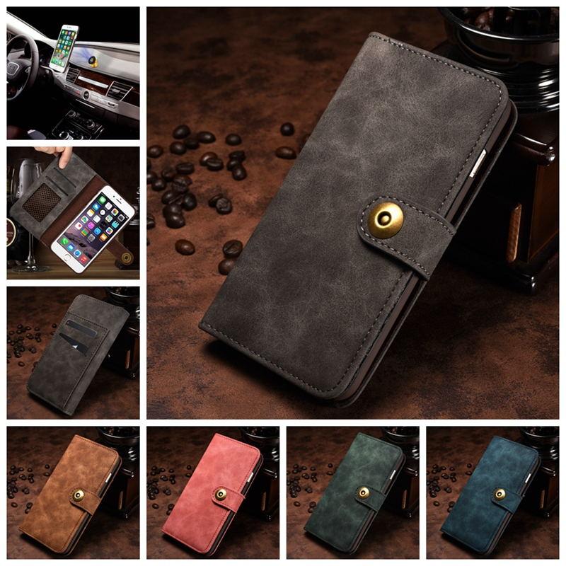 For Coque iPhone 6S Wallet Case 2 in 1 Detachable Leather Magnetic Flip Cover Case for iPhone 6 Etui Capinha for iPhone 6 S Case image