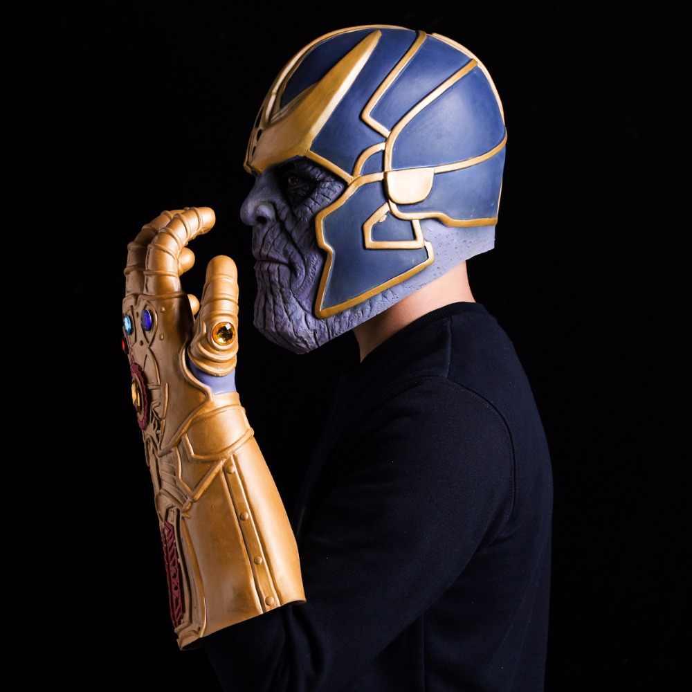 Avengers Vô Cực Chiến Tranh Thanos Mặt Nạ Vô Cực Nhẹ Cosplay Găng Tay Cao Su Non Mũ Bảo Hiểm Siêu Anh Hùng Avengers Thanos Mặt Nạ Halloween Đạo Cụ
