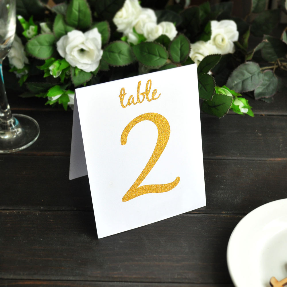 Gold Foil Table Numbers Two Sided Wedding Table Number Wedding Table Decor Rustic Table Number Signs