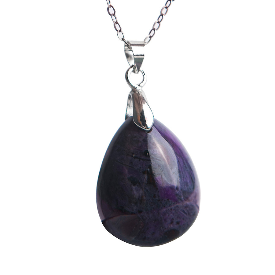 Natural Sugilite Plated Necklace Pendant Purple Trendy Sugilite Water Drop Necklace Women Genuine Fashion Stone Free ShippingNatural Sugilite Plated Necklace Pendant Purple Trendy Sugilite Water Drop Necklace Women Genuine Fashion Stone Free Shipping