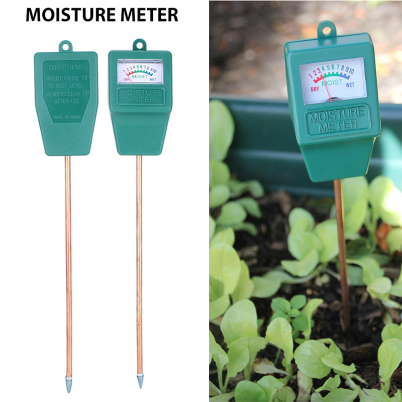 28*5*3.5CM Plastic+Metal Hydroponics PH Meter Moisture Soil Tester Safe Lawns Analyzer Outdoor