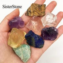 8 Uds natural de cuarzo de cristal en bruto piedras preciosas y minerales curativos piedras como regalos