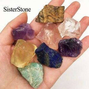 Image 1 - Pierres précieuses brutes en cristal quartz naturel 8 pièces, et minéraux de guérison, pierres brutes comme cadeau