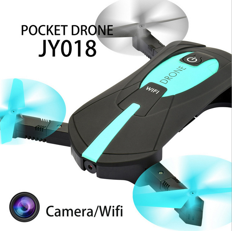 RC Drone JY018 Foldable Quadcopter Selfie Helicopter Mini Drone With WIFI Camera HD Pocket Drone