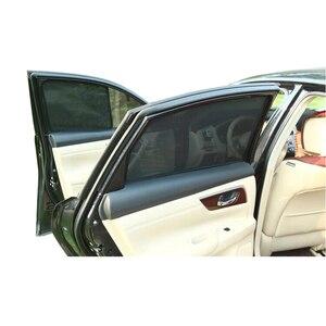 Image 4 - For TOYOTA COROLLA Sedan 2014  Magnetic Net Car Window Visor Side Rear Windows Blinds Windshield Sunshades Foldable Easy Storage