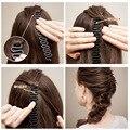 Trança de Cabelo da moda Magia Peixe Vínculo Ondas Rolo Ferramenta Braider Com Torção Hair Styling Bun Criador