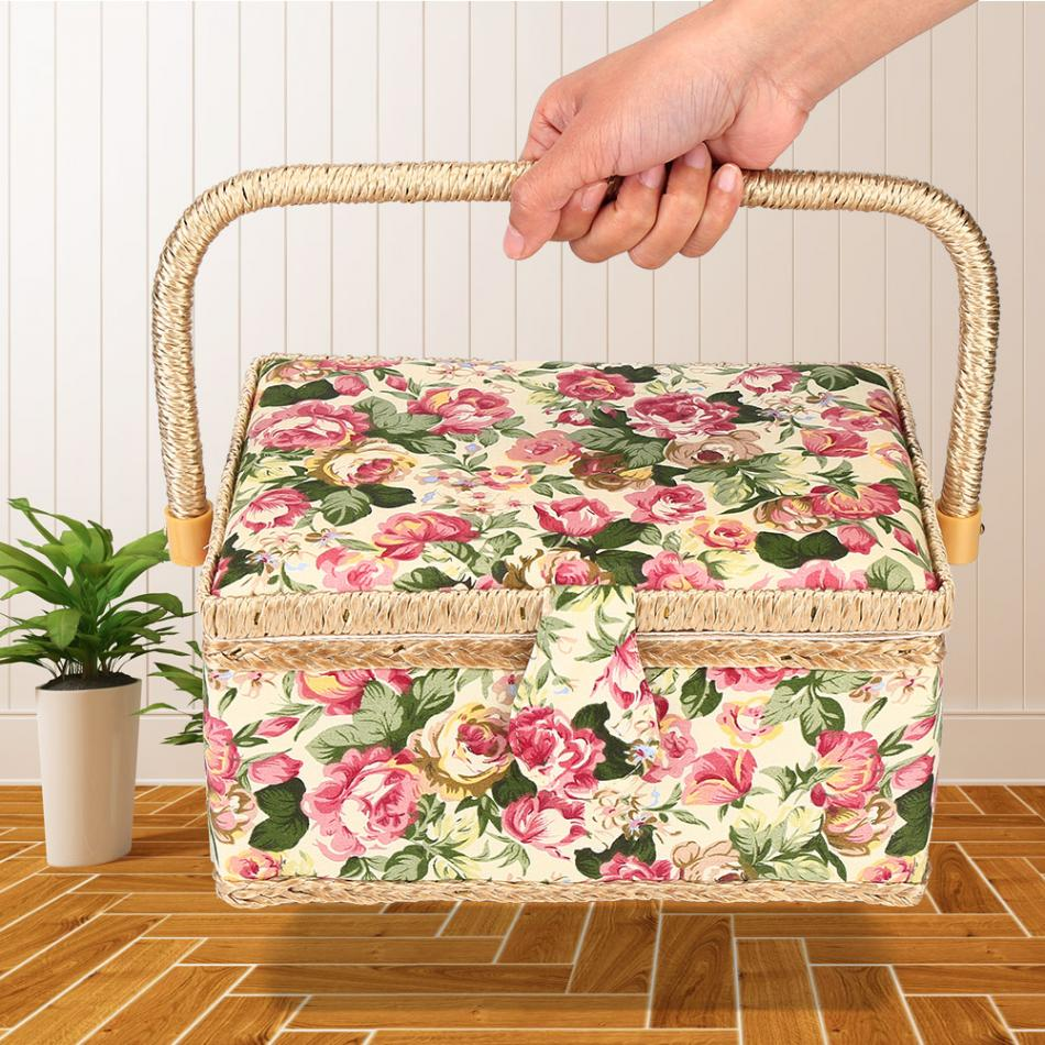 Корзина для шитья и шитья, корзина для шитья и шитья, 3 цвета, с аксессуарами для шитья