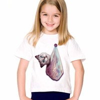 TEEHEART Boys Girls S Modal T Shirt Funny Plastic Bags Cat Head Printed 18M 10T Children