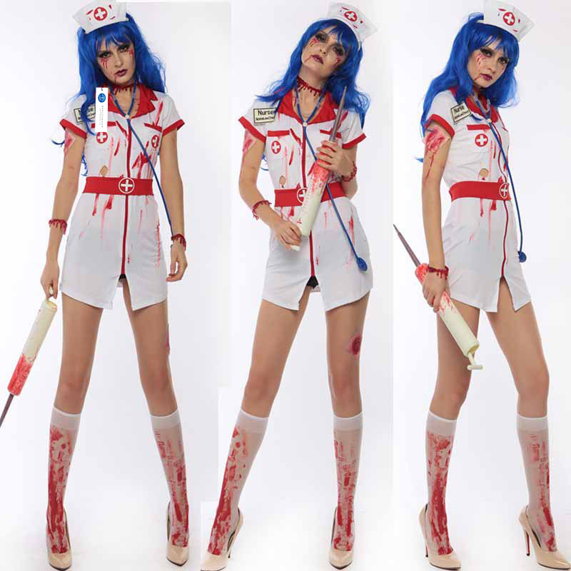 ManLuYunXiao 2017 Cosplay Vampire Witch Costume Women Halloween Zombie Nurse Party Uniforms Horror Theme Christmas Costume