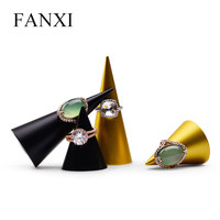 FANXI Metal Ring Display Finger Ring Display Holder Jewelry Display Stand Scrub Ring Exhibitor Organizer for Jewelry Shop