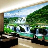 Beibehang özel 3d fotoğraf poster dokunmamış hd falls doğal manzara büyük mural duvar kağıdı duvar kaplama oturma odası yatak odası