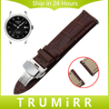 18mm 20mm 22mm Quick Release Watch Band Genuine Leather Strap for Tissot T035 PRC 200 T055 T097 Butterfly Buckle Wrist Bracelet