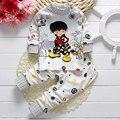 Novos conjuntos de pijama de algodão dos desenhos animados do bebê roupas de bebê sleepwear