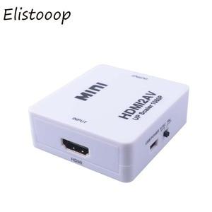 Image 4 - 2019 HDMI to AV/RCA CVBS Adapter 1080P Video Converter HDMI2AV Adapter Converter Box Support NTSC PAL Output HDMI AV Adapter