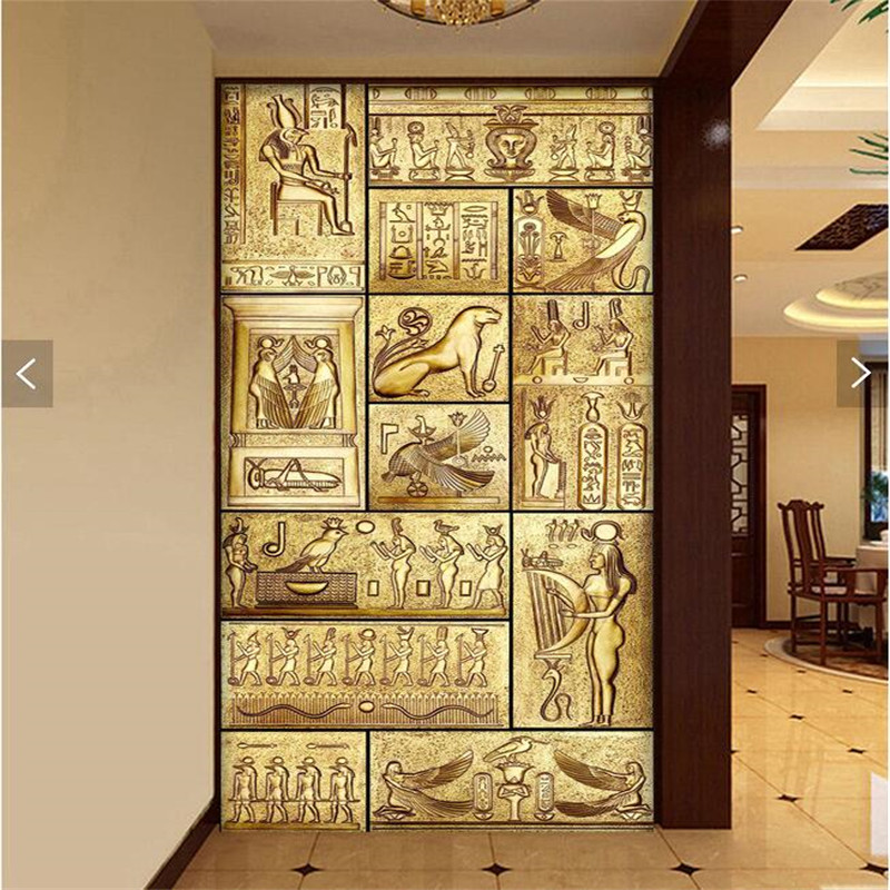 Aliexpress Com Buy Beibehang 3d Art Backdrop Beauty Of Egyptian Art Ancient Culture Covering Home Decor Modern Wall Painting For Living Wallpaper From