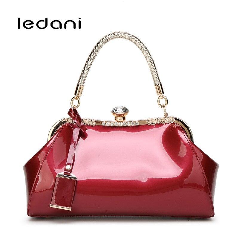 купить LEDANI Female  Messenger Shoulder Bags Women Leather Top-Handle Crossbody Bag Ladies Handbag Lady Fashion Evening Bags по цене 2243.96 рублей
