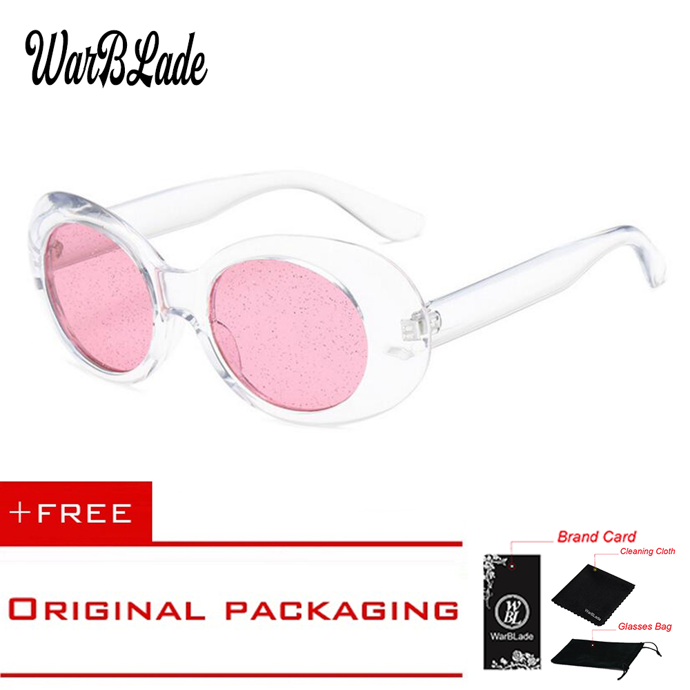 2018 Fashion Man New Oval Sunglasses For Female Transparent Gorgeous Granulated Lens Top Quality Sun Glasses For Men Women Pink
