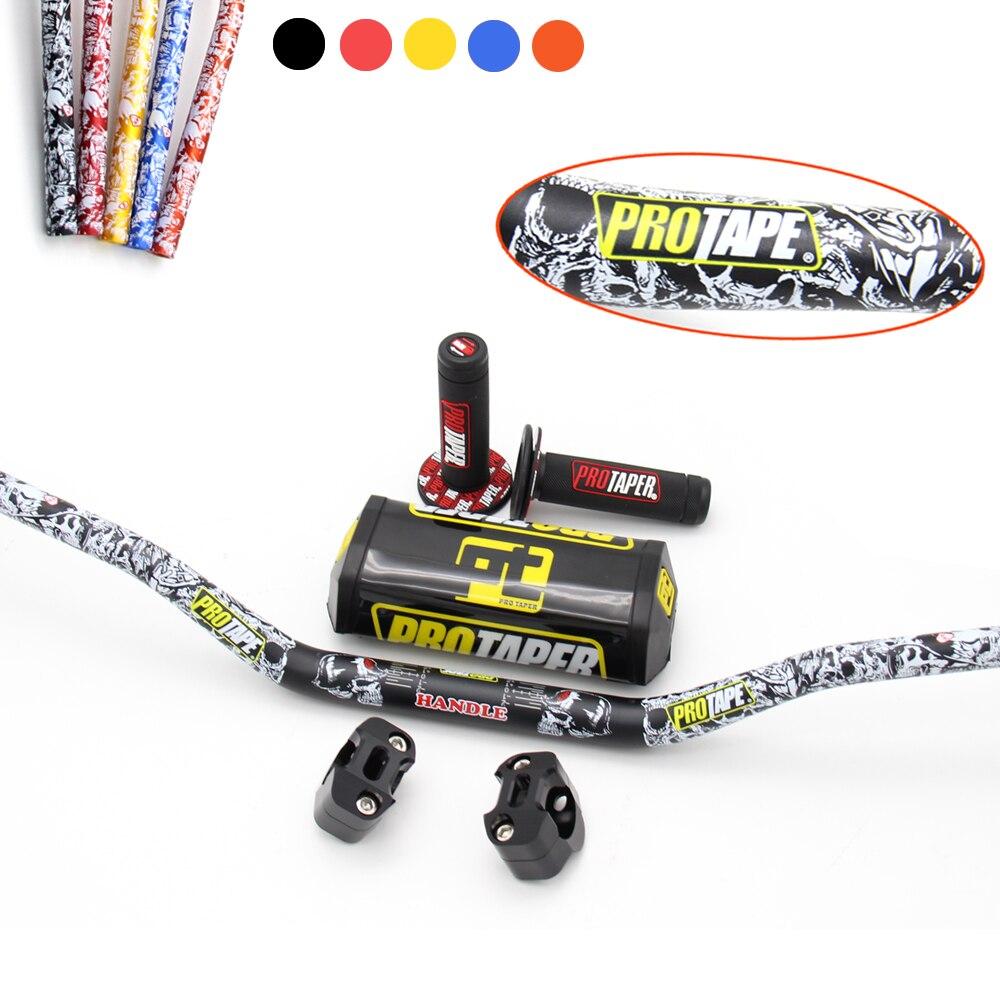 PRO Taper 1 1 8 Fat Bar 28 5MM Handlebars Grips Bar Clamps Bar Pad Motorcycle